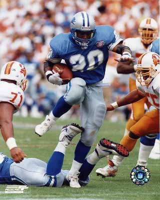 Barry Sanders against the Tampa Bay Bucs