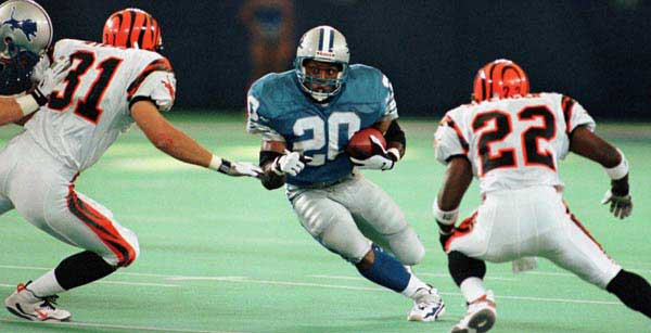 Barry Sanders vs Cincinnati Bengals